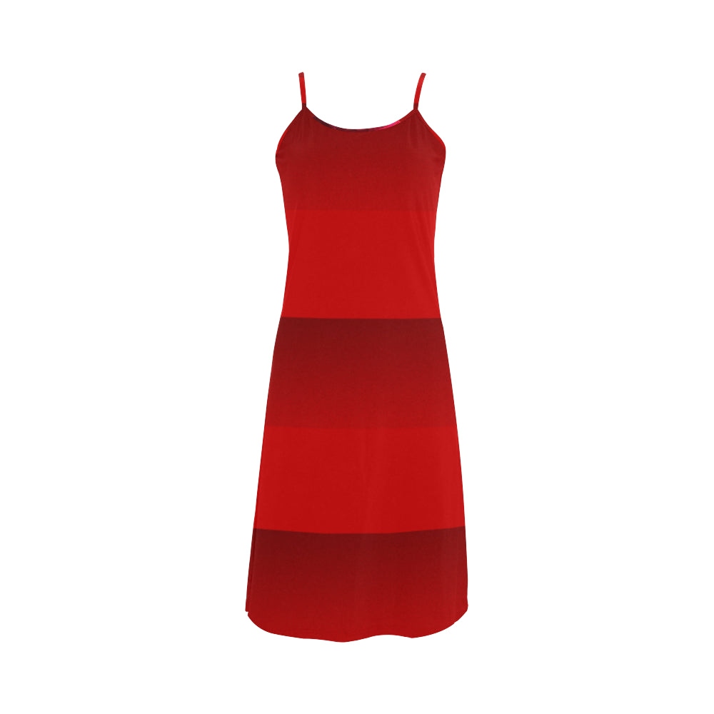 Red Stripes Alcestis Slip Dress (Model D05)
