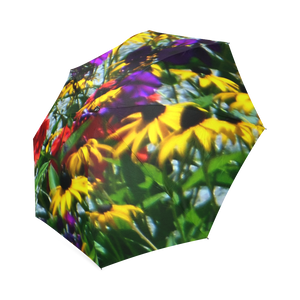 Picturesque Flowers Foldable Umbrella