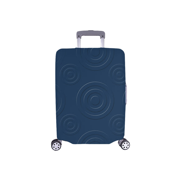 Prussian Blue Birdeye Luggage Cover/Small 24'' x 20''