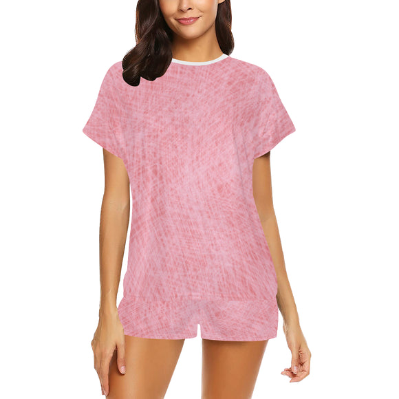 Deep Blush Froly Women's Short Pajama Set (Sets 01)