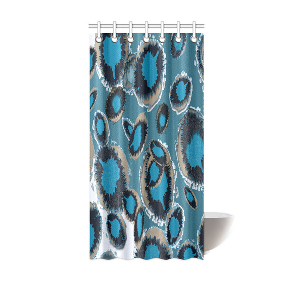 Bluish Smudge Spot Shower Curtain 36