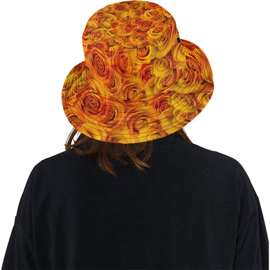 Grenadier Tangerine Roses All Over Print Bucket Hat
