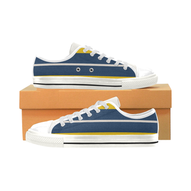 Pearl Corn Zodiac Men's Classic Canvas Shoes (Model 018)