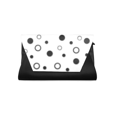 Black Polka Dots Clutch Bag (Model 1630)