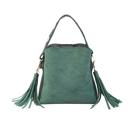 Brand Tassel Shoulder Bags Handbags Women Scrub Crossbody New Bucket Sac