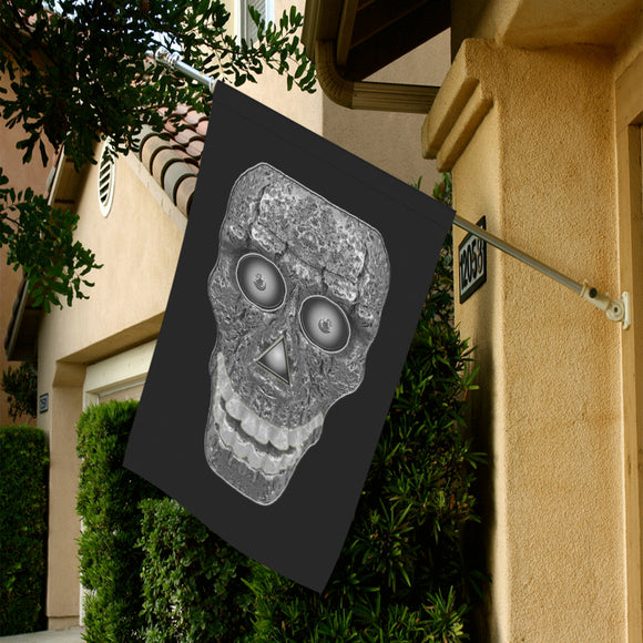 Cod Grey Skull Head Garden Flag 28''x40'' (Without Flagpole)