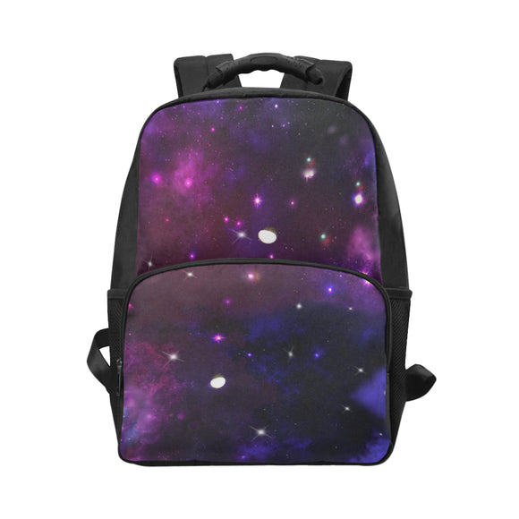 Midnight Blue Purple Galaxy Unisex Laptop Backpack (Model 1663)