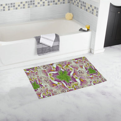 Digitalis Purpurea Flora Bath Rug 16''x 28''