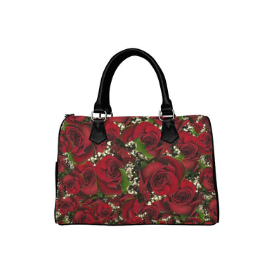 Carmine Roses Boston Handbag (Model 1621)