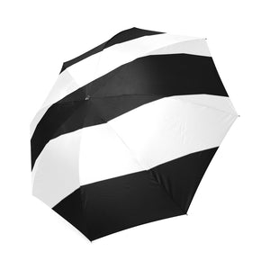 Black White Stripes Foldable Umbrella