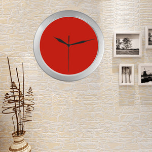 Pomegranate Solid Silver Color Wall Clock