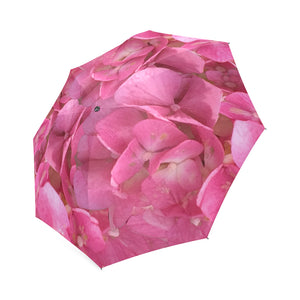 Dark Pink Flowers Foldable Umbrella