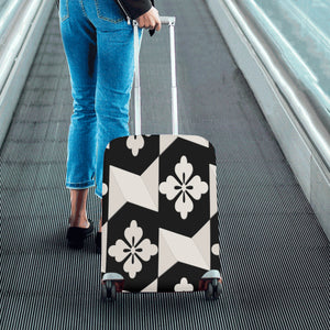 Black White Tiles Luggage Cover/Small 24'' x 20''