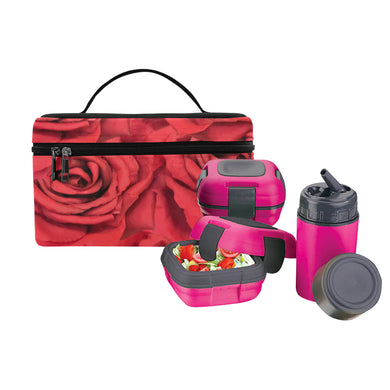Radical Red Roses Lunch Bag/Large (Model 1658)
