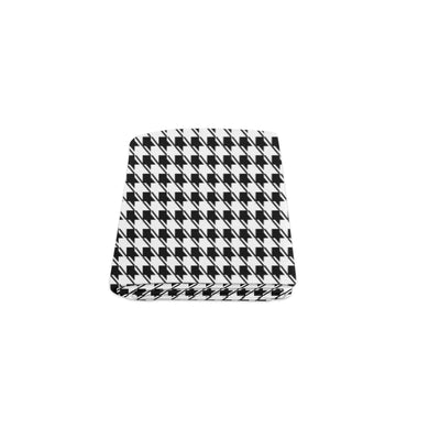 Black White Houndstooth Blanket 40