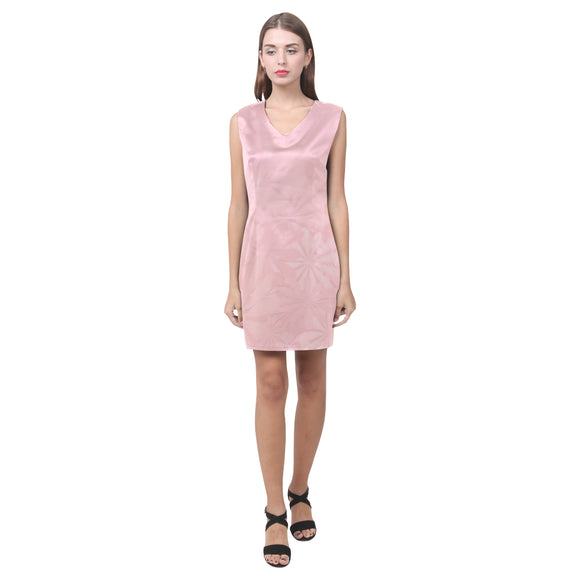 Mandys Pink Azaleas Phoebe Sleeveless V-Neck Dress (Model D09)