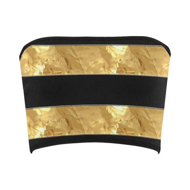 Black Gold Stripes Bandeau Top