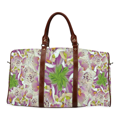 Digitalis Purpurea Flora Waterproof Travel Bag/Small (Model 1639)