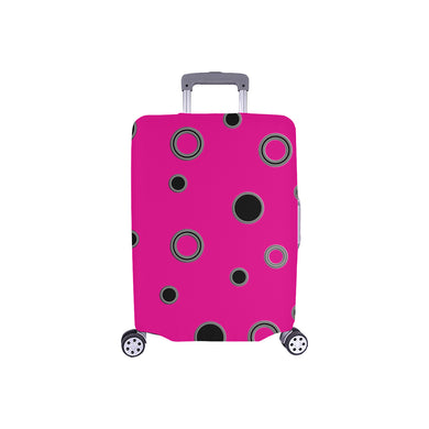 Black Polka Dots Luggage Cover/Small 24'' x 20''