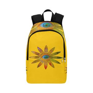 Yellowish Eye Flower Fabric Backpack for Adult (Model 1659)