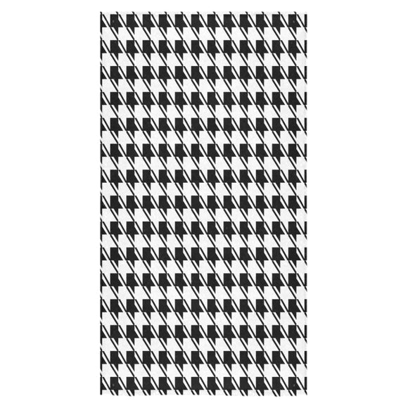 Black White Houndstooth Bath Towel 30