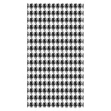 "Black White Houndstooth Bath Towel 30""x56"""
