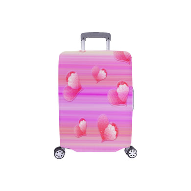 Falling Hearts Luggage Cover/Small 24'' x 20''
