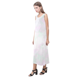 Clear Amour Snuff Mint Phaedra Sleeveless Open Fork Long Dress (Model D08)