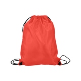 "Pomegranate Solid Medium Drawstring Bag Model 1604 (Twin Sides) 13.8""(W) * 18.1""(H)"