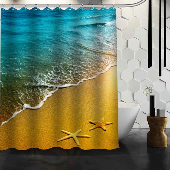 Waterproof Bathroom Beach Spa Shower Curtain
