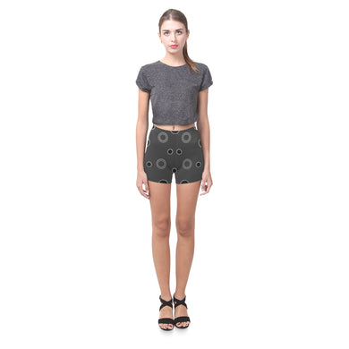 Black Polka Dots Briseis Skinny Shorts (Model L04)