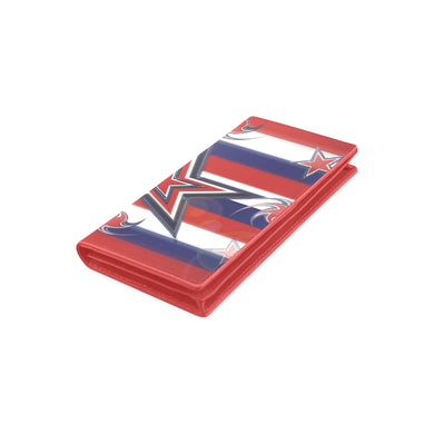 Tricolor Stars Stripes Women's Leather Wallet (Model 1611)