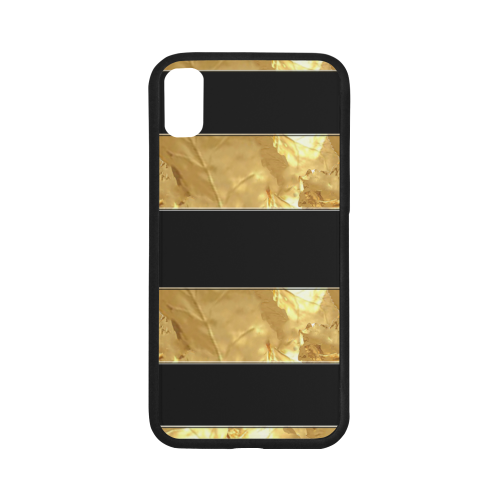 Black Gold Stripes iPhone X Case