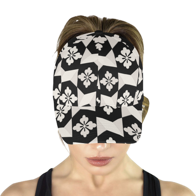 Black White Tiles All Over Print Dad Cap (7-Pieces Customization)