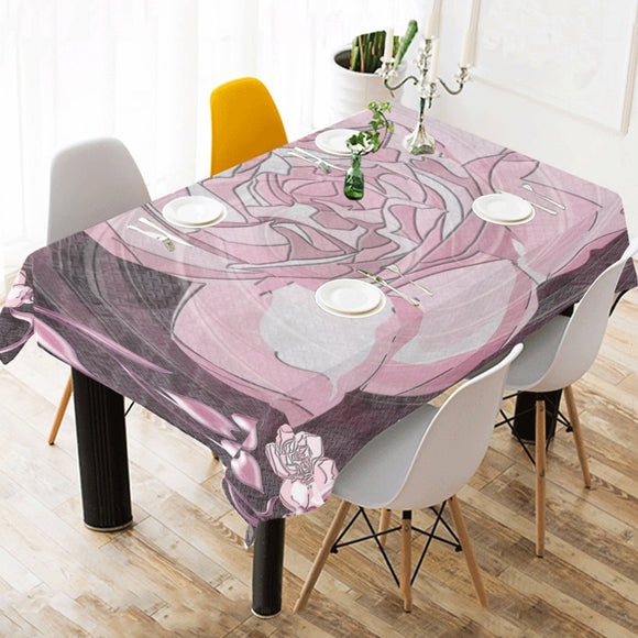 Gardenia Flora Pattern Cotton Linen Tablecloth 52