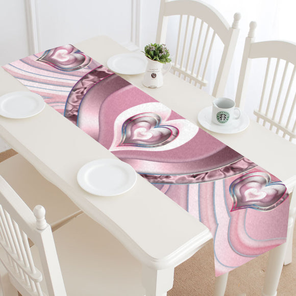 River Flowing Hearts Table Runner 14x72 inch