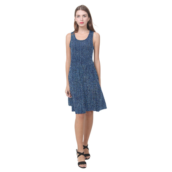 Dark Denim Atalanta Casual Sundress(Model D04)