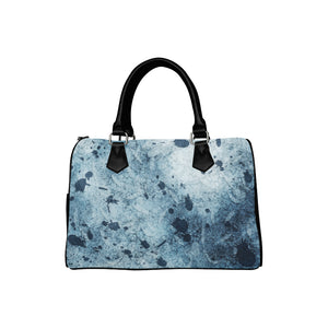 Water Blue Splatter Boston Handbag (Model 1621)