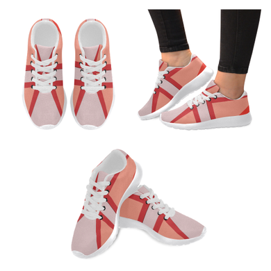 Shades of Red Patchwork Women's Running Shoes (Model 020)