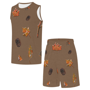 Leaves Pine Cones All Over Print Basketball Uniform