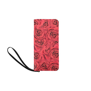 Radical Red Roses Women's Clutch Purse (Model 1637)