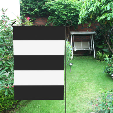 Black White Stripes Garden Flag 12''x18''(Without Flagpole)