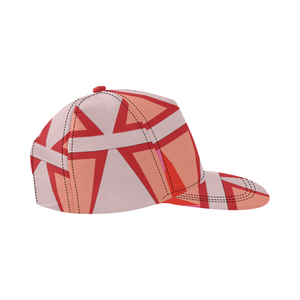 Shades of Red Patchwork All Over Print Snapback Hat