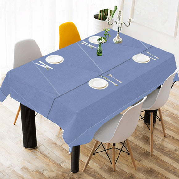 Ship Cove Shapes Cotton Linen Tablecloth 52