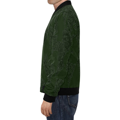 Deep Fir Shades All Over Print Bomber Jacket for Men (Model H19)