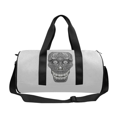 Cod Grey Skull Head Duffle Bag (Model 1679)