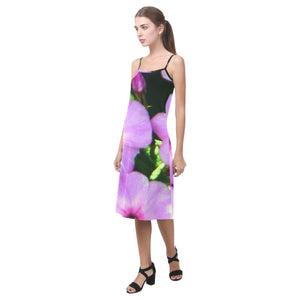 Fuschia Flowers Alcestis Slip Dress (Model D05)
