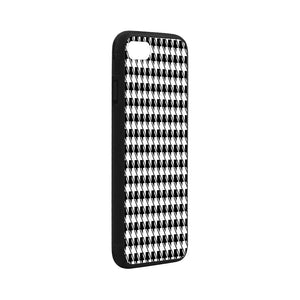 "Black White Houndstooth iPhone 7 4.7"" Case"