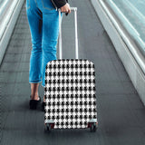 Black White Houndstooth Luggage Cover/Small 24'' x 20''