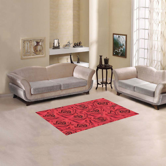 Radical Red Roses Area Rug 2'7
